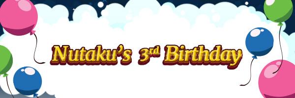 Nutaku's 3rd Birthday