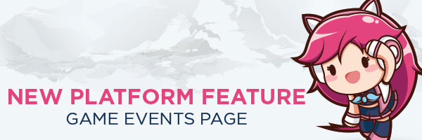 Game Events page