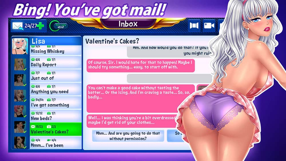 Build your videochat fap empire game!
