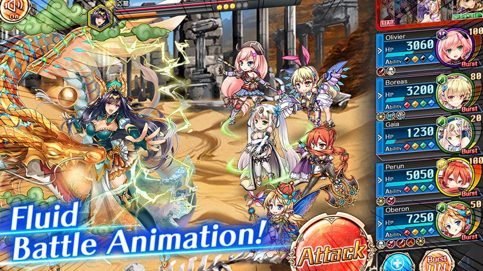 turn-based-rpg Game - Kamihime PROJECT