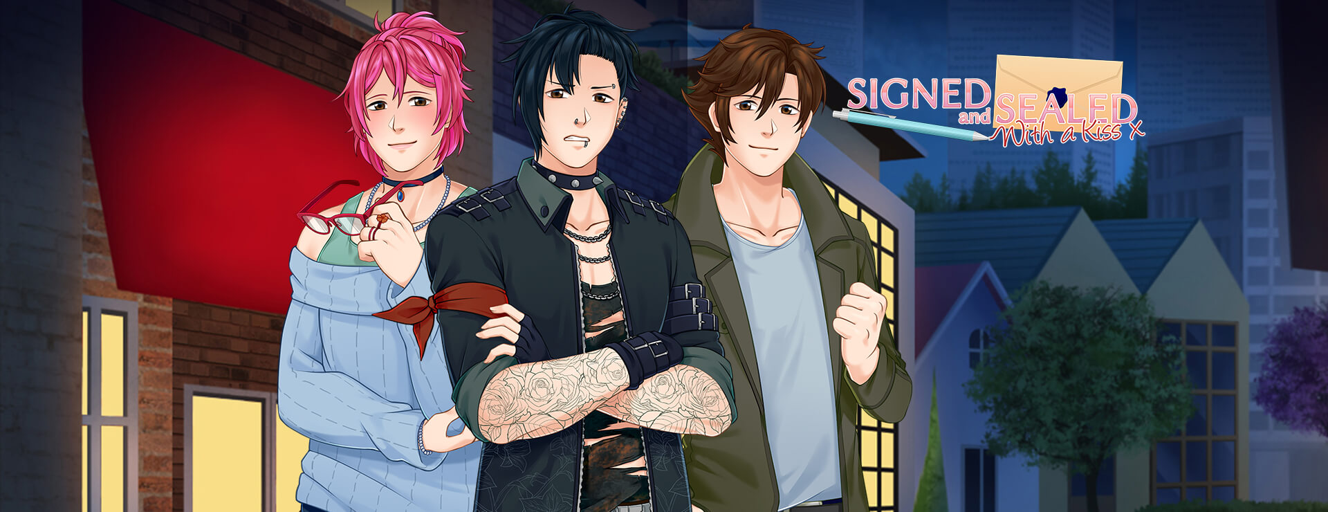 Signed and Sealed With a Kiss - Visual Novel Game